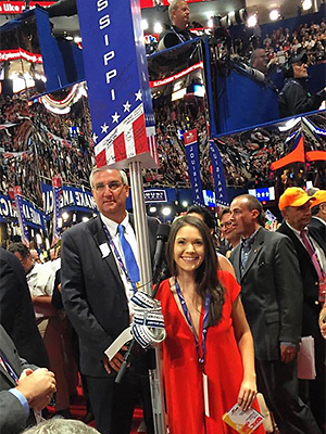 Allie Peyton at the Republican National Convention